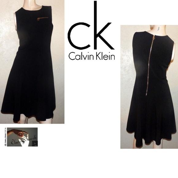 4852485436ac5 Calvin Klein Dresses   Skirts - Calvin Klein Black Sleeveless Flare Skirt  Dress